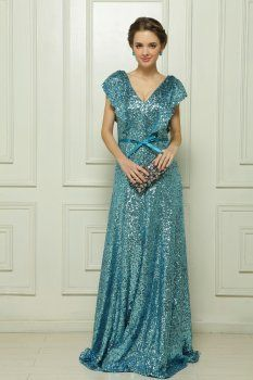Green evening dress fell to the ground Malay Satin Sequin