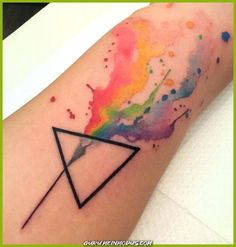 - Site Today - – – - Site Today - – – - 25 Pink Floyd Tattoos That Got Us Seeing The Dark Side Of The Moon 40 Cute Watercolor Tattoo Designs and Ideas For Temporary Use - Cartoon District Most Amazing Tattoos Which Will Make You Look Twice th. Trendy Tattoos, Popular Tattoos, Unique Tattoos, Small Tattoos, Awesome Tattoos, Cool Tattoos For Men, Artistic Tattoos, Best Tattoos For Women, Colorful Tattoos