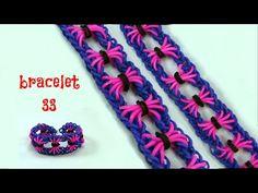 Bracelet on the bow shape 45 Rainbow Loom Bracelets Easy, Loom Band Bracelets, Rainbow Loom Tutorials, Rainbow Loom Patterns, Rainbow Loom Creations, Rainbow Loom Bands, Rainbow Loom Charms, Macrame Bracelets, Loom Bands Designs