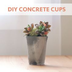 Add Industrial Style To Your Home With These DIY Concrete Cups