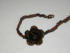 Multi-tone Metal and Rose Bracelet