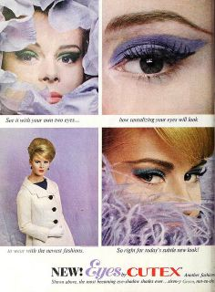 Eyes by Cutex, May 1962 Blend, girl, blend it!!