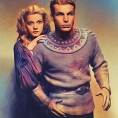 'Buster Crabbe and jean Rogers, Flash Gordon' by SerpentFilms Flash Gordon Comic, Sci Fi Comics, Sci Fi Films, Vintage Book Covers, American Dad, Retro Futurism, The Flash, Golden Age, Good Movies