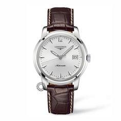 L2.766.4.72.0 (L2.766.4.72.2 / Strap XL) - Ανδρικό αυτόματο ρολόι LONGINES Saint-Imier Collection με καφέ λουρί, ασημί καντράν & ημερομηνία |  Ρολόγια ΤΣΑΛΔΑΡΗΣ Χαλάνδρι #SaintImier #longines #ρολόι
