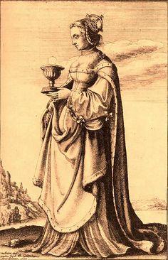 Anne Boleyn as St. Barbara, by rosewithoutathorn84, via Flickr