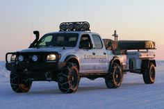 """Toyota Tacoma with Snorkel and Tire Chains"" That is the best description ever, it made me laugh so hard!"