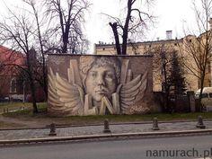 Aniołek - murale Wrocław #Wrocław #aniołek #murale #murals #mural #graffiti #streetart