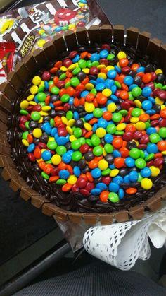 m&m &  Kitkat cake by Celebrations Fine Confections Mumbai India.