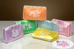 Monogrammed Cosmetic Bags Custom Made Especially For You!
