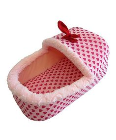 Take a look at this Pink Slippers Shape Pet Bed on zulily today! If we only had are own little Gracie Jordan lol!!!