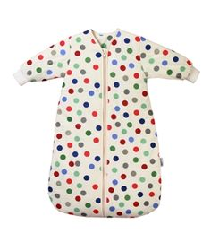 3.5 Tog Baby Winter Travel Sleeping Bag  with sleeves Bubble Dot