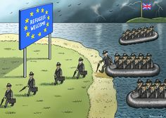 """Esta quarta-feira ficou marcada pelo início do fim da relação entre Londres e Bruxelas. Seleccionámos 27 cartoons que assinalam o """"Brexit"""", um por cada Estado-membro que irá ficar na União Europeia."""