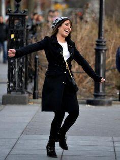 Lea looks so happy *-* #GleeInNY