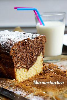 Rezept für saftigen Marmorkuchen - Madame Cuisine Chocolate Coating, Melting Chocolate, German Desserts, Gateaux Cake, Marble Cake, Cake Tasting, Food Cakes, Cake Cookies, Vanilla Cake