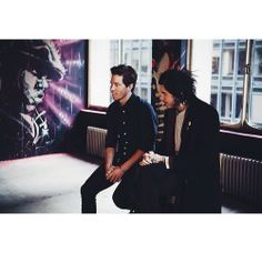 Shaun White and Davis LeDuke being interviewed by RevoltTV. Photo by Ben Wolin. March 4, 2014.