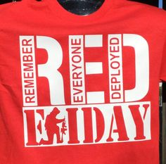 RED Friday Shirt.Soldier kneeling RED Friday Shirt.Fresh unique RED Friday shirt.Remember Everyone Deployed T-shirts.Great gift for her. by CustomPressTShirts on Etsy
