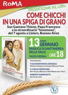 """Presentazione libro """"Come chicchi in una spiga di grano""""  Venerdi 13 gennaio 2017, ore 18, Basilica Sant'Andrea della Valle, Roma (Piazza Vidoni, 6)."""