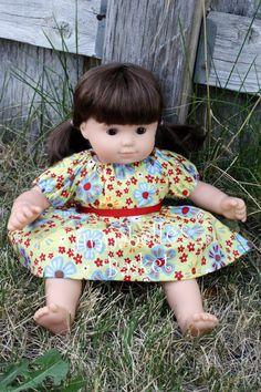 "American Girl Peasant Dress for 15"" Doll. $15.00, via Etsy."