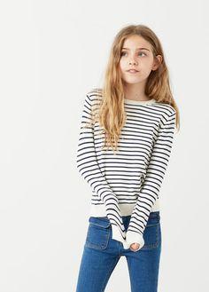Bavlněný svetr s proužky