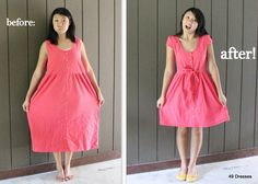 49 Dresses: DIY... This girl is brilliant. She takes clothes from the thrift and re-makes them!
