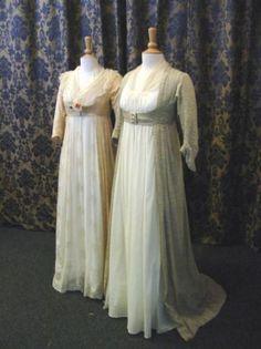 Jane Austen costumes on display