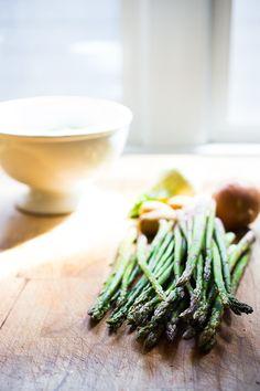 The lightest, creamiest Asparagus Soup ...so EASY and delicious!! | www.feastingathome.com