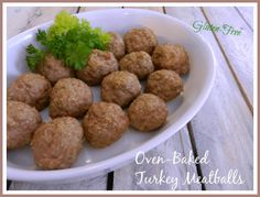 A Busy Mom's Slow Cooker Adventures: Oven-Baked Turkey Meatballs - Gluten-Free