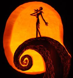 nightmare before christmas pumpkin carving! i love this movie!!!