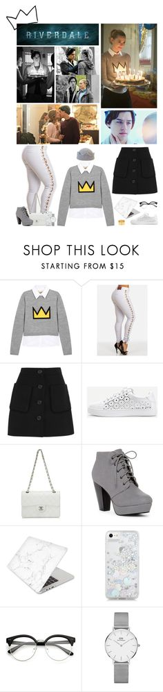 """""""Betty Style Remix"""" by llimiwi ❤ liked on Polyvore featuring Alice + Olivia, Miu Miu, WithChic, Chanel, ANNA, Recover, Skinnydip, Daniel Wellington, jughead and riverdale"""