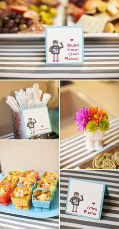 Robot Baby Shower  :: paper goodies by idieh design