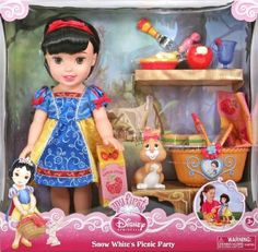 """Filmic Light - Snow White Archive: """"My First Disney Princess"""" Snow White Doll My First Disney Princess, Disney Princess Toys, Disney Princess Snow White, Disney Dolls, Baby Doll Nursery, Baby Dolls, Toddler Toys, Kids Toys, Snow White Doll"""