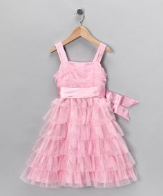 Take a look at this Light Pink Ruffle Dress - Girls by Sweet Heart Rose on #zulily today!