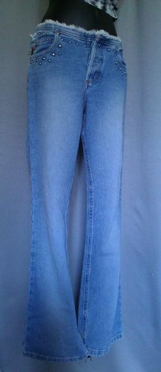 EUC ~ MUDD Jeans ~Mid- Rise JUNIORS SZ. 7 LONG VINTAGE DISTRESSED * FREE GIFT * #Fashion #Style #Deal
