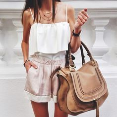 Everything on this woman! <3 this ensemble! // Marcie Large Satchel by Chloé
