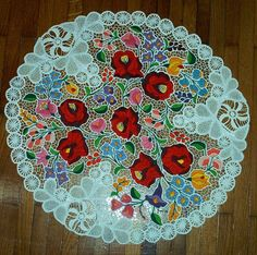 Embroidery Map, Hungarian Embroidery, Learn Embroidery, Embroidery Patterns, Lace Art, Lace Making, Cutwork, Chain Stitch, Handmade Crafts