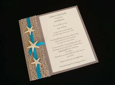 interesting star fish wedding invitation