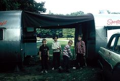 Reed and Morris kids between the two trailers by lreed76, via Flickr