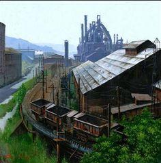 "The Bethlehem Steel plant in Bethlehem, PA, ""next door"" to Allentown."