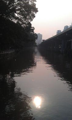Sun setting, Guangzhou