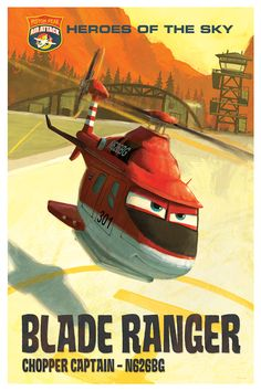 Meet Blade Ranger, a veteran fire-and-rescue helicopter with a wry sense of humor and no-nonsense attitude when it comes to his crew. Get to know Blade Ranger in Disney's Planes: Fire & Rescue, soaring into theaters in ONE WEEK.