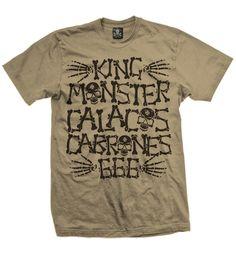 """Playera Monster Huesos ""  Vatos  disponible en www.kingmonster.com.mx"