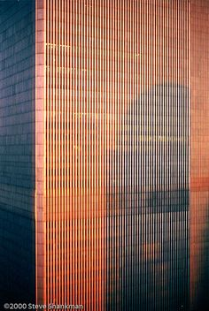 Sunset on World Trade Center World Trade Towers, World Trade Center Nyc, Trade Centre, North Tower, I Love Ny, City Buildings, Art Deco, Tours, Historia