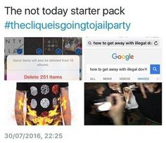 Back when #thecliqueisgoingtojailparty was happening.