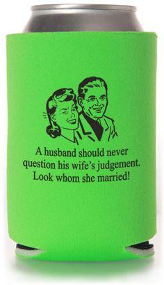 Funny Wedding Can Coolers #funny #wedding #koozies