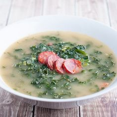 This Portuguese Caldo Verde recipe is one of the most recognized Portuguese soups in the world. This soup is so full of flavour and perfect as a weeknight soup or for guests.
