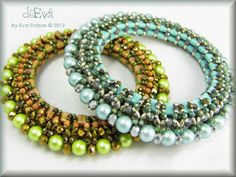 Must find my samples - I did something similar in bead crochet quite a few years ago.  deEva - beaded jewelry