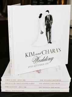 Custom illustrated wedding storybook. The Wedding Reporter.