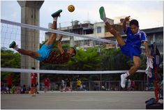 Takraw kick volleyball/ that's ridiculous!!!!!!!