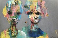 "Maleri av Kari Anne Marstein ""Incognito"", 150x100 maleri"