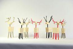 Design wooden deer statues, household furnishing, some parts print on 3D printer, © Jakub Ilko 2015